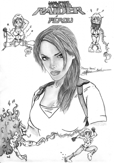 Portrait of Lara Croft by Hellhawa on Stars Portraits